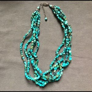 Turquoise-colored Howlite necklace